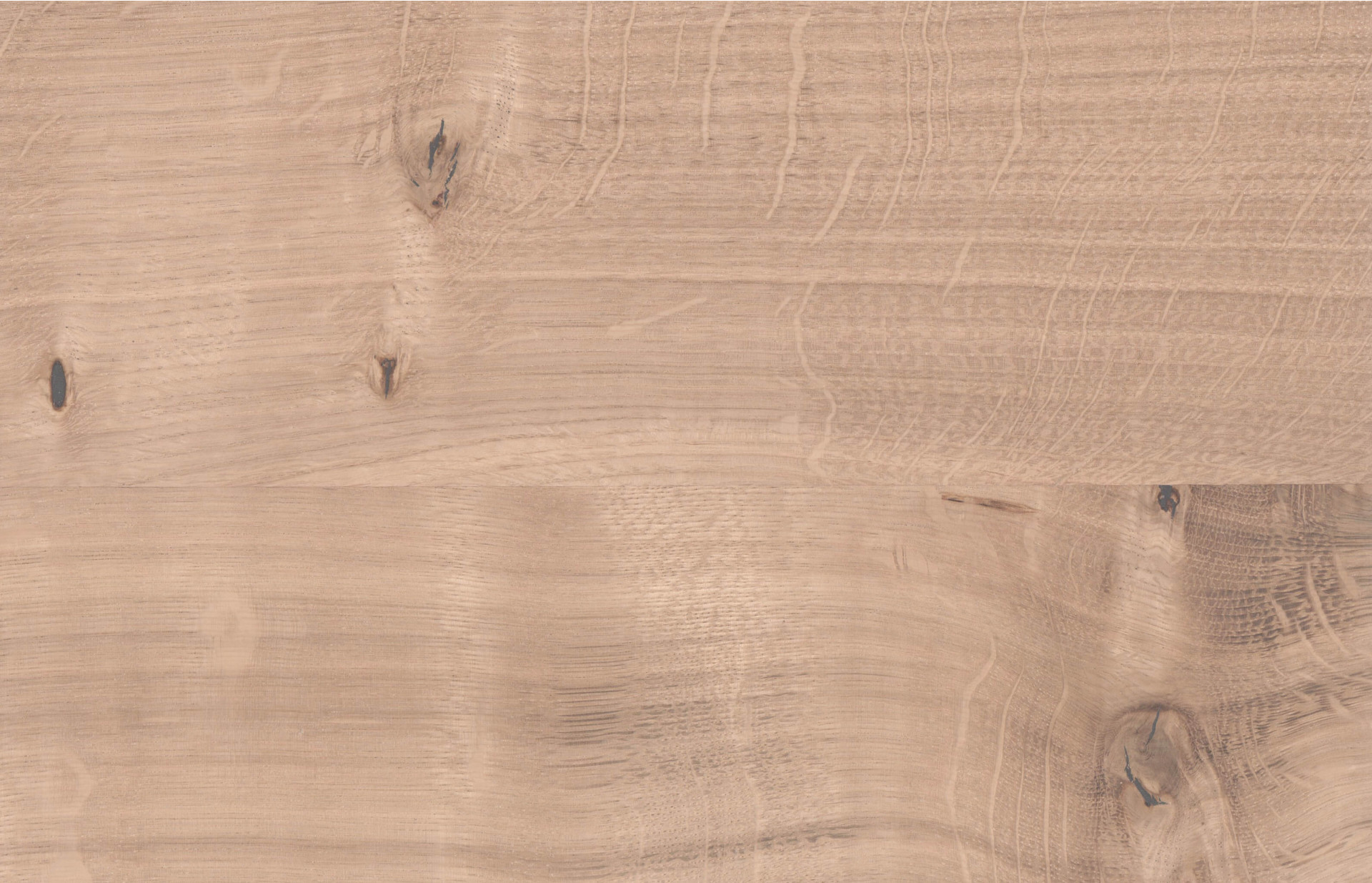 Holzmuster in Wildeiche weiß geölt