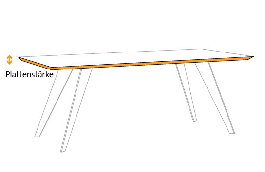 Plattenstärke Esstisch Lanjo