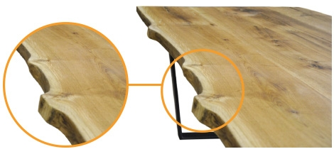 Plattenprofil Baumkante