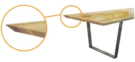 Plattenprofil 45° schräg unterschnitten